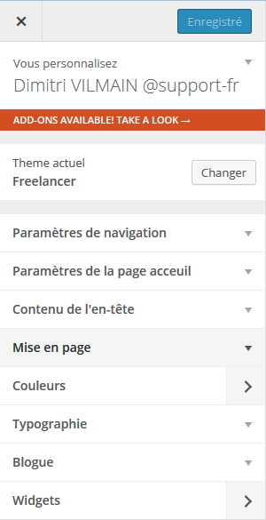 Wordpress Mise en page
